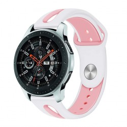 Armband Samsung Galaxy Watch 46 mm - vit/rosa - L