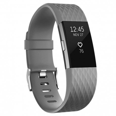 Fitbit Charge 2 armband - Grå - L