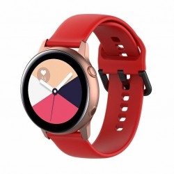 Armband till Samsung Galaxy Watch 42mm - röd (L)