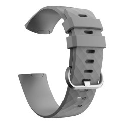 Fitbit Charge 3/4 armband silikon - grå/silver - Small